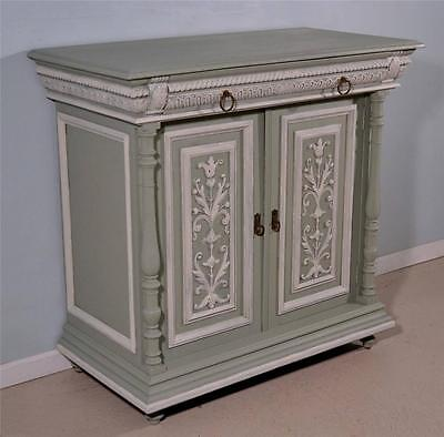 Antique French Renaissance Revival Sideboard Buffet Cabinet Painted Oak Console