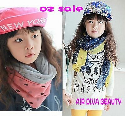1pc Girls Kids Children Boys Women double color Fashion Neck Scarf Scarves Wrap