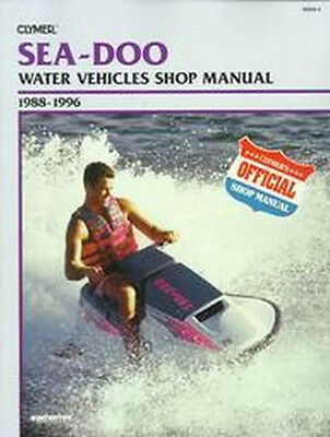 CLYMER - Official Shop Manual Sea-Doo 1998-1996 - Notice technique