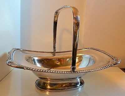 sbx ANTIQUE 19TH C OLD SHEFFIELD SILVERPLATE CAKE BREAD BASKET C.1820-40