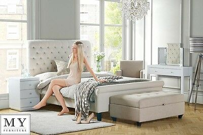 5ft King Size Luxury Upholstered bed buttoned headboard -AMARE from My-Furniture