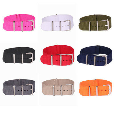 16mm 18mm 20mm 22mm 24mm Pure solid color nato Nylon Watch Strap Wristwatch Band