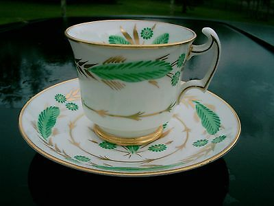 ROYAL CHELSEA  CUP & SAUCER REPLACEMENT # 461A  ENGLAND GREEN FEATHER or LEAF