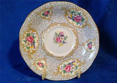 Queen Anne China Replacement Tea Saucer. Gainsborough Pattern.Nice