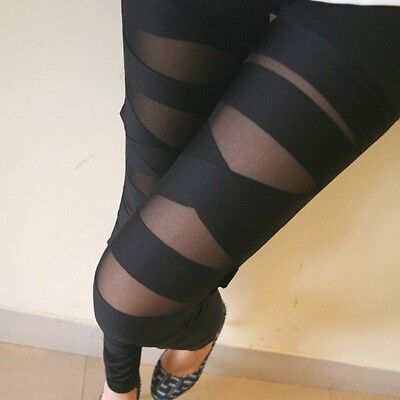 Ripped Torn Cutout Punk Slash Sexy Stretch Tights Leggings One Size (DS) 1753
