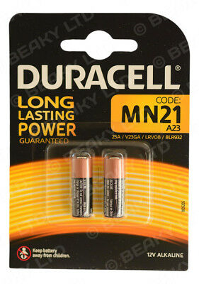 Genuine Duracell MN21 23a LRV08 L1028 Alkaline Battery 12v [2-Pack]