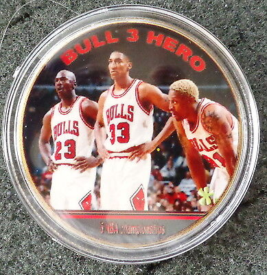 MICHAEL JORDAN  1 oz  24 KT .gold plated  COLLECTIBLE  COIN  # 7