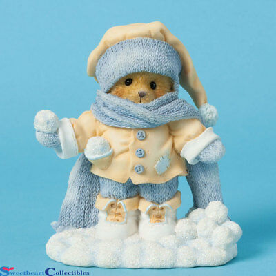 Cherished Teddies 4040464  Anderson Bear Snowballs and Scarf New 2014