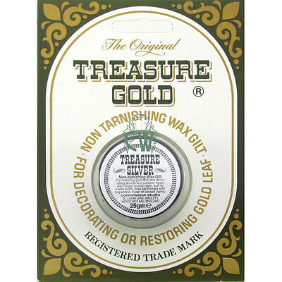 Original Treasure Metallic Gilding Wax 25gm SILVER. Perfect for Art & Crafts