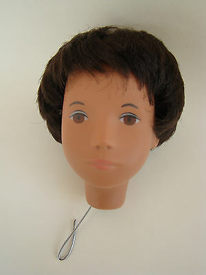 Handsome Dark Hair Gregor Sasha Doll Head only Lovely face paint nice condition