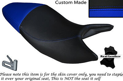 Black & Royal Blue Custom Fits Honda Hornet Cb 600 F 03-06 Dual Seat Cover