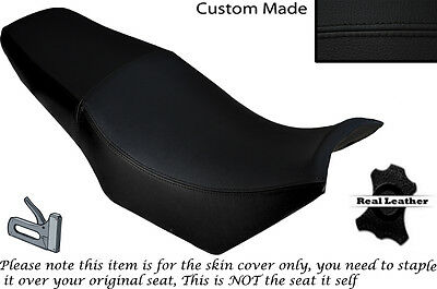 Black Stitch Custom Fits Yamaha Fzx 750 700 Dual Leather Seat Cover Only