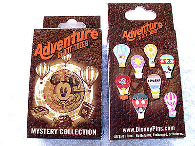 Disney* ADVENTURE - CHARACTERS & HOT AIR BALLOONS *New in Box  2-Pin Mystery Box
