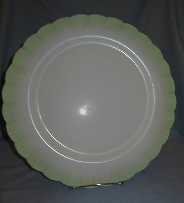Early 1940s Cremax 12 inch Cookie or Serving Plate by McBeath Evans Glass Co