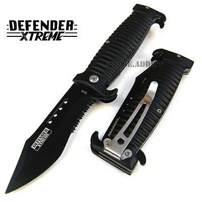 "8.5"" HEAVY DUTY GRIP TACTICAL SPRING ASSISTED POCKET KNIFE folding open 7536-"