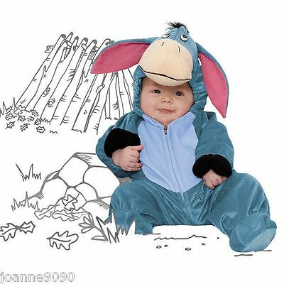 Baby Boys Girls Toddler Winnie the Pooh Eeyore Donkey Fancy Dress Costume Outfit