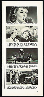 1941 Sinclair Oil American Airlines Stewardess May Bobeck Mary Martin Ad