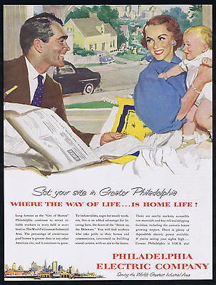 1953 Philadelphia Electric Company Owner Occupied Homes Family Art Ad