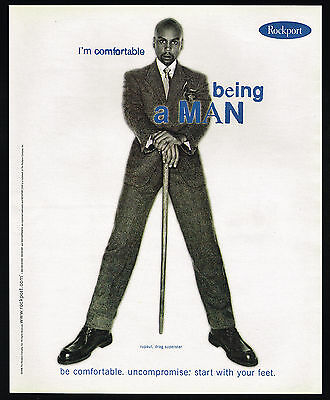 1998 Rupaul Drag Superstar I'm Comfortable Rockport Shoes Being A Man Print Ad