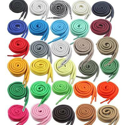5mm ROUND SHOE LACES *34 COLOURS & 6 SIZES* TRAINER BOOT SNEAKER REPLACEMENT