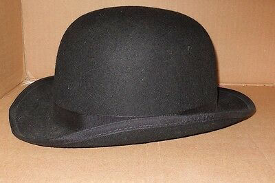 New Nice Rental Quality Felt Bowler Derby Adult size Black