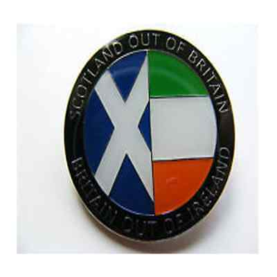 Scotland Out Of Britain Out Of Ireland Enamel Pin Badge - Independence YES