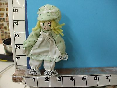 9c43db2a19b5c GIRL COUNTRY GREEN wooden clothespin doll hand painted clothes hand ...