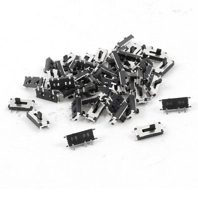 50 Pcs On/Off 2 Position 7 Pins 1P2T SPDT Vertical Mini SMD SMT Slide Switch