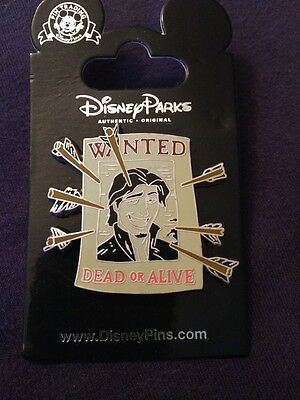 "Disney Tangled Flynn Ryder "" Wanted Dead Or Alive "" Pin"