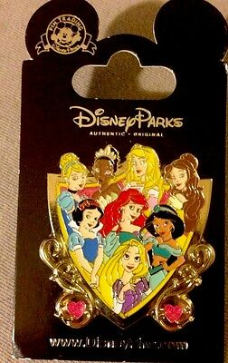 Disney 8 Princess Crest Pin