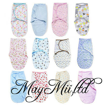 100% Cotton newborn Baby Infant Swaddle Easy Wrap Swaddling Blanket 0-3 Months S