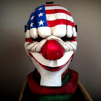New PAYDAY Dallas LATEX MASK Halloween HEAVY HARDCORE COOL HORROR The GAME