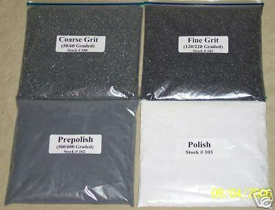 Rock Grit Kit for 15lb Tumblers w FREE Polishing instructions, Superior Quality!