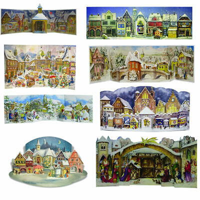 Large Antique Advent Calendar Traditional German Freestanding 3D free post UK