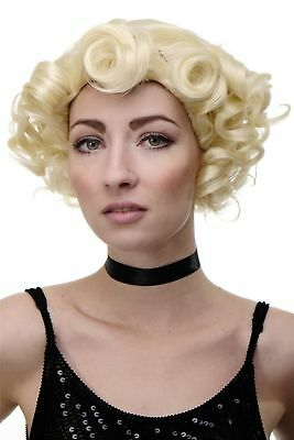 Damenperücke Perücke 20er Jahre Swing Jazz Locken Welle Lichtblond Blond GFW1717