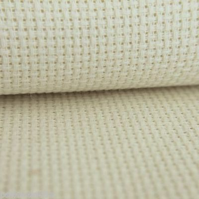 14 Count Cream Aida Cream 100% Cotton Various Sizes from 10 cm to 100 cm Wide