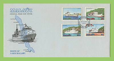 Malawi 1985 Ships of the llake set First Day Cover