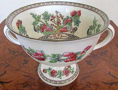 Antique Marked Coalport Indian Tree Bolted Compote Serving Piece Ex-Condition