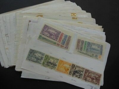 SIERRA LEONE : Very nice Mint & Used grouping on old time approval pgs Cat £1754