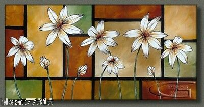 No Framed! BEAUTIFUL MODERN ABSTRACT WALL ART OIL PAINTING ON CANVAS-flower