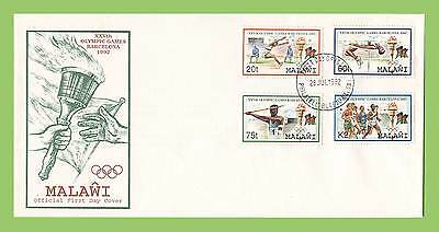 Malawi 1992 Olympic Games, Barcelona First Day Cover