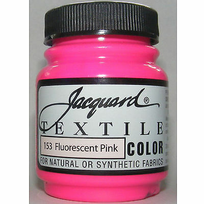 Fluor Pink Natural Or Synthetic Fabric Paint