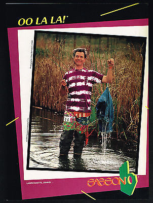 1990 Sasson Fashion Fisherman John B Larroquett Photo Vintage Print Ad