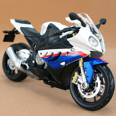M003-1 Maisto 1:12 BMW S1000RR Blue Motorcycle Model Diecast Toy Gifts For Kids