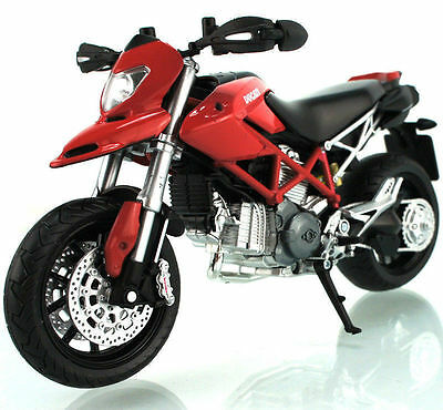 M027-1 Joycity 1:12 Ducati Hypermotard Red Motorcycle Model Diecast Kids Toy