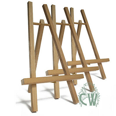 3 Pack of Small Wooden Table Easels. Display Frames, Menu, Art Easel. 28cm High
