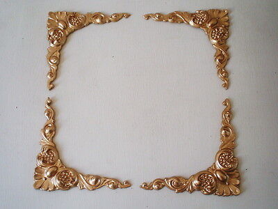 Mirror Frames & Piture Frames Projects Antique Gold Ornate Four Corner Moldings