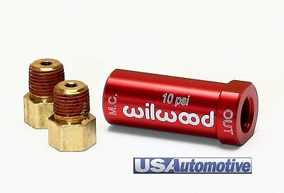 10Lbs Wilwood Universal Residual Pressure Valve WITH FITTINGS