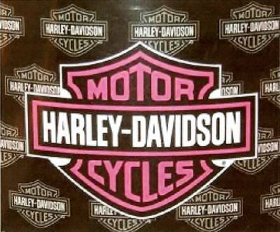 Small Pink Harley Patch. NEW !  Fast Shipping.