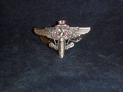 GRATEFUL DEAD PSYCLE (MOTORCYCLE) SAM WINGS PIN